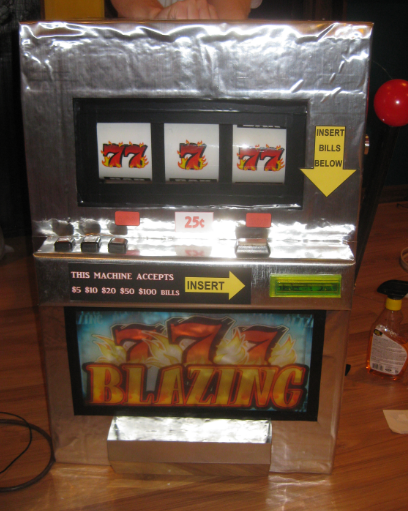 A Working Slot Machine Costume