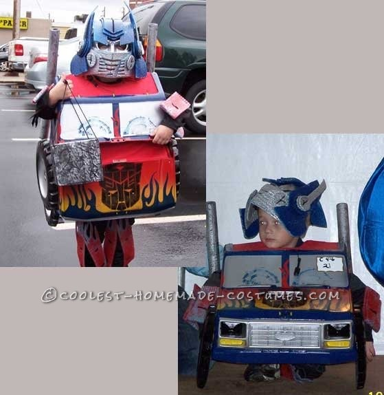 Cool Transforming Optimus Prime Costume - 1
