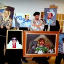 """We do a group costume every year andin 2010we went as an Artist and his collection of """"copied"""" paintings :) Each person painted their"""