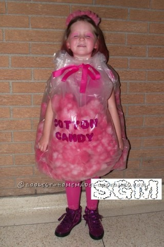 For my daughters fall fair parade her class dressed up as circus food. And like every 5 year old she loves pink so cotton candy was her choice.I sp