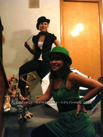 My friend and I decided we wanted to be Batman villains for Halloween a couple years ago. My Riddler costume was pretty easy to make. I bought a lon
