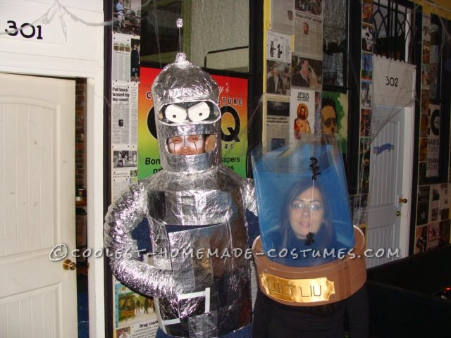 Awesome Bender and the Head of Lucy Liu Halloween Couple Costume