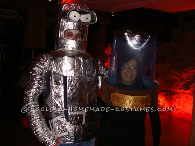 Awesome Bender and the Head of Lucy Liu Halloween Couple Costume - 1