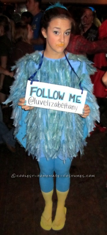 Original Female Twitter Bird Costume
