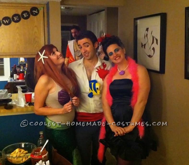 Ursula, Ariel and Eric