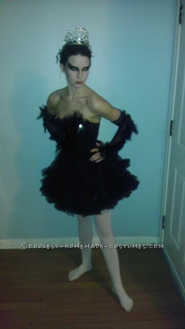 Coolest Homemade Black Swan Costume - 1