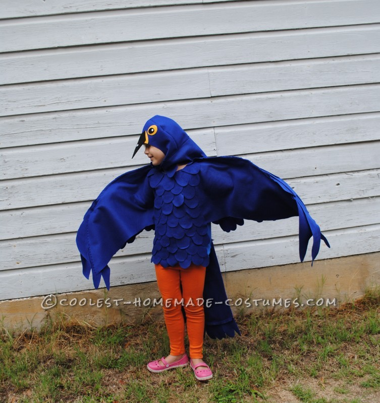 Coolest Blue Macaw Parrot Costume - 5