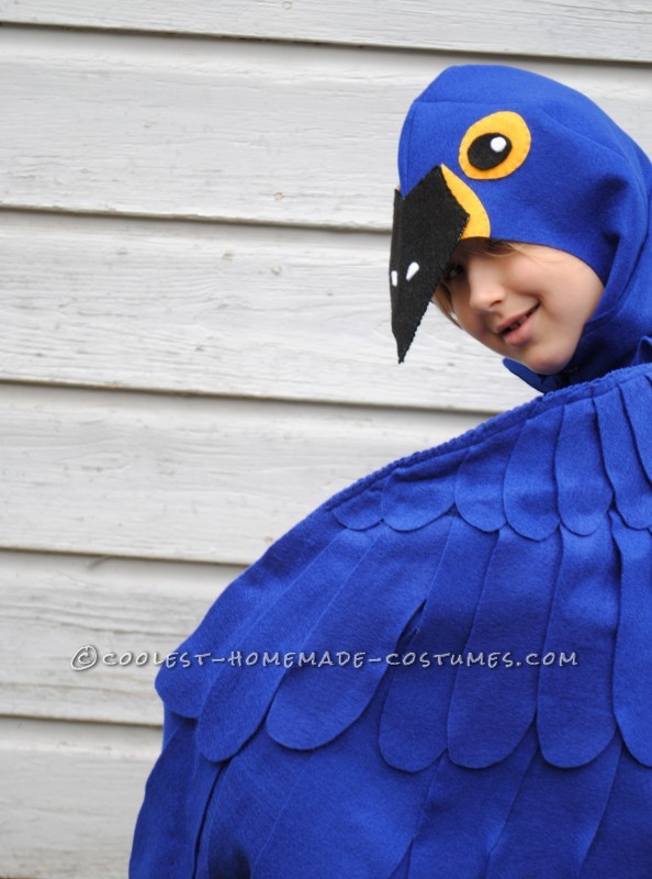 Coolest Blue Macaw Parrot Costume - 6