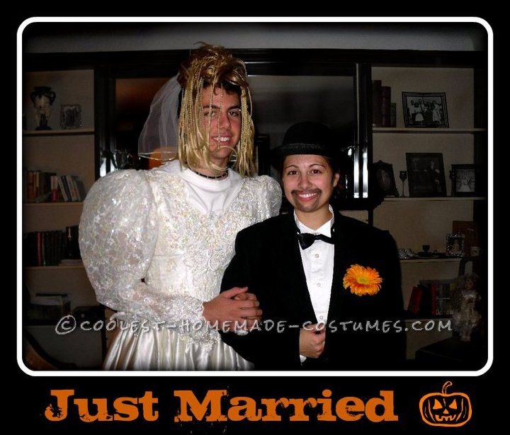 Coolest Bride and Groom Mix Up Couple Costume