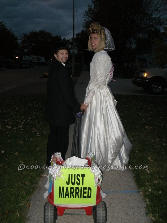 Coolest Bride and Groom Mix Up Couple Costume - 1
