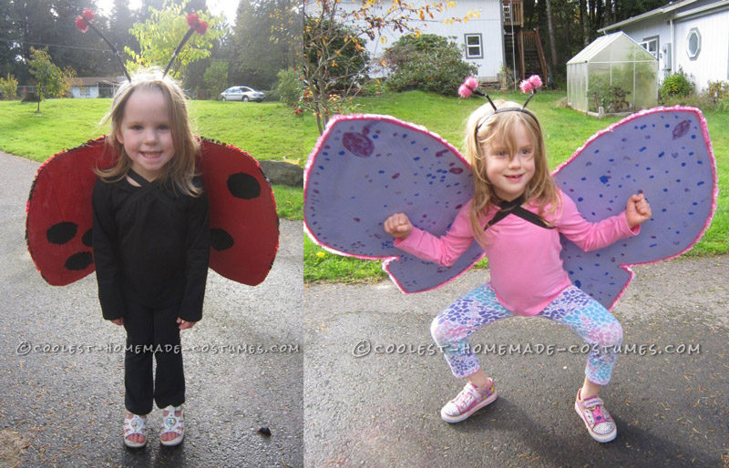 Cool Homemade Insect Costumes: Butterfly and Ladybug