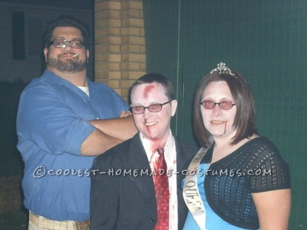 Cheap Zombie Prom King and Queen Couple Costumes