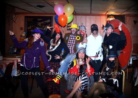 2011 = Circus people! I really can't tell you where everyone's costumes came from other than being pieced together from older costumes, thrifting,