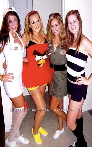 my costume and my sorority sisters