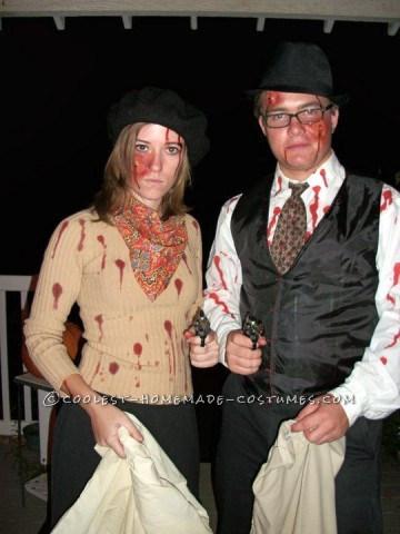 My boyfriend and I always try to go as a couple for Halloween so this year we chose Bonnie and Clyde. Well, Bonnie and Clyde when they return from th