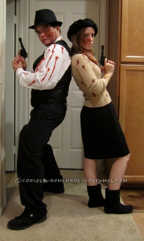 Coolest Zombie Bonnie And Clyde Couple Costume