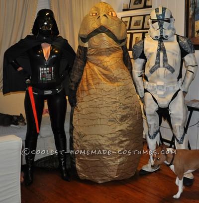 Darth Vader, Jabba the Hutt, Stormtrooper
