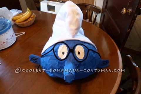 Coolest Homemade Papier-Mache Smurf Halloween Costume - 4