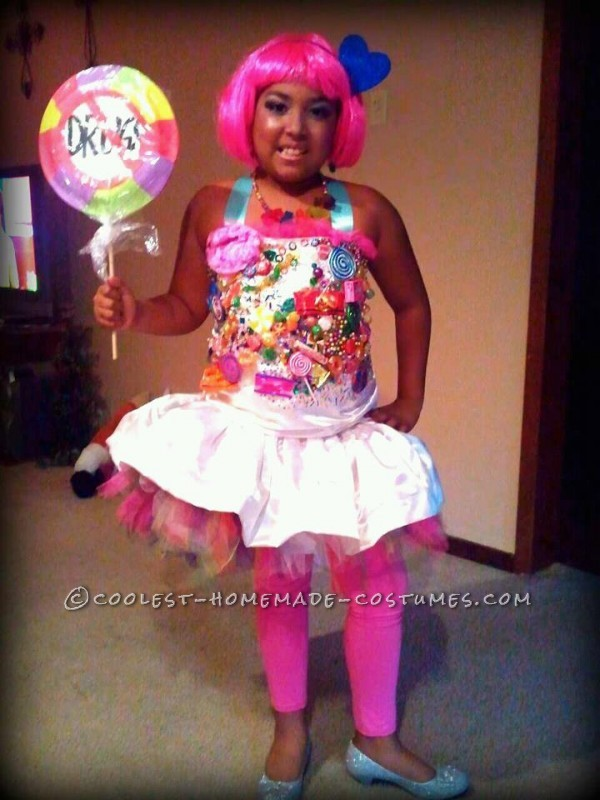 "More details about this dress is under ""coolest homemade candy princess Halloween costume idea 5"