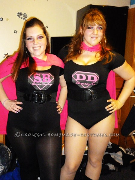 Coolest Made-Up Superhero Costumes: DD and Super Booty