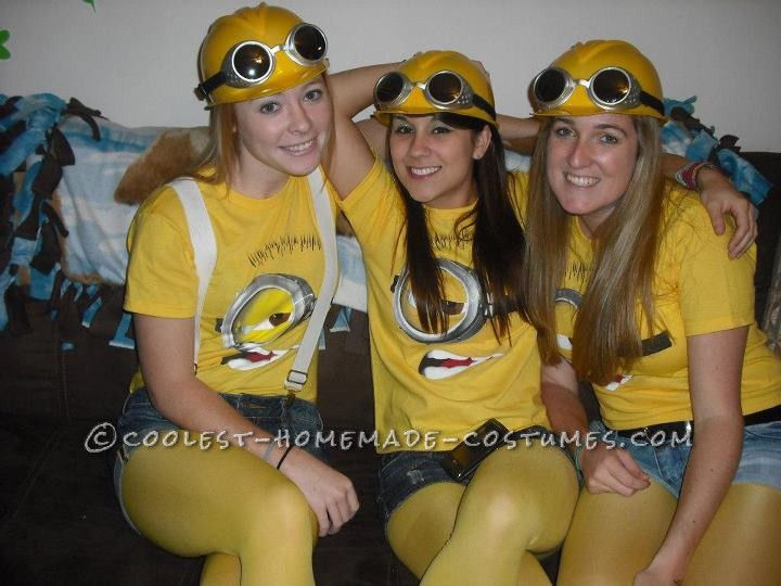 Coolest Despicable Me Minion College Girl's Group Costume - 2