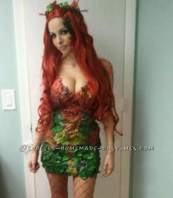 Me in my home made Poison Ivy costume Made from fake plants from the dollar store and a gule gun :)   Me in my home made Poison Ivy c