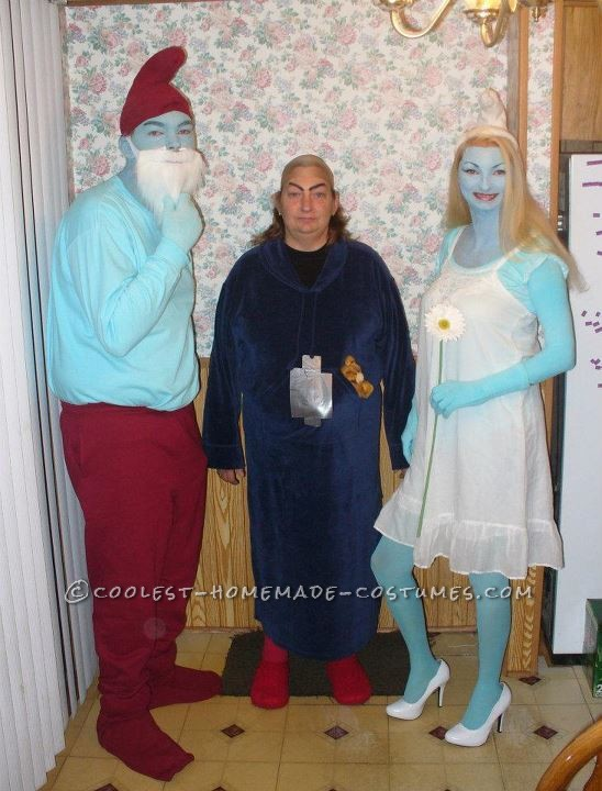 Coolest Smurfs and Gargamel Group Halloween Costumes