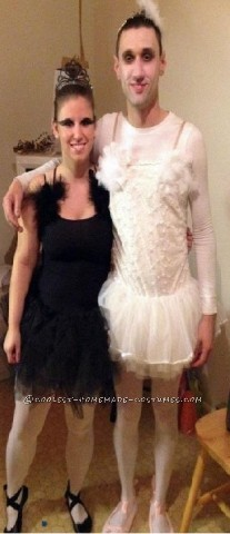 "It took a lot of convincing, but I somehow convinced my boyfriend to be the ""white swan"" while I was the ""black swan"". I started off at a dancewe"