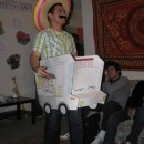 """This was a last minute costume designed for a friends letter \""""T\"""" themed party. made it out of construction paper and poster board then topped i"""