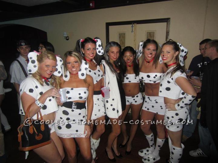 Cutest 101 Dalmations and Cruella De-Vil Girls Group Costume