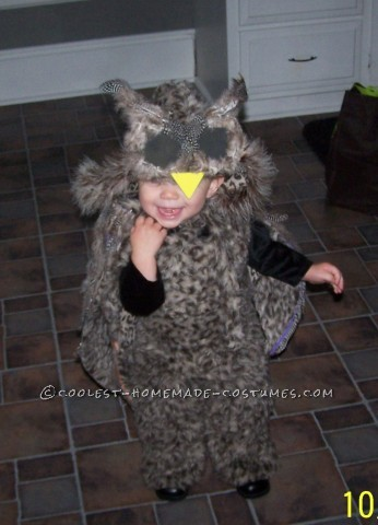 After five failed attempts at making an Eve costume to complement her brother's Wall-E, we ended up making my daughter an owl for Halloween last yea