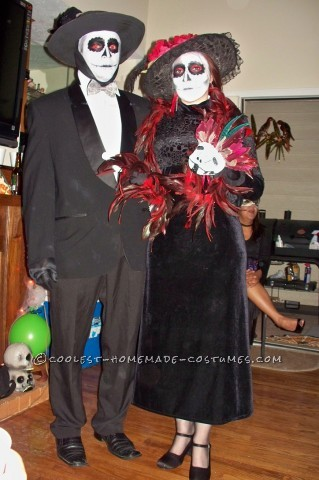 This was our costume last year. I had been working on my costume for a couple of days, but the day of the party my husband decided he wanted his cost