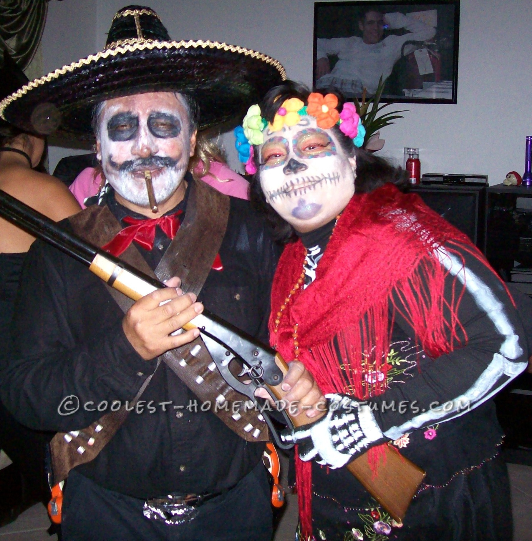 Coolest Day of the Dead Couples Halloween Costume