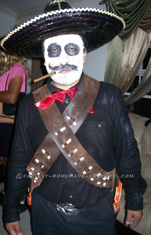 Since we are a latino couple we wanted to do something traditional for Halloween, so I decided that I would make us a Day of the Dead costume.For m