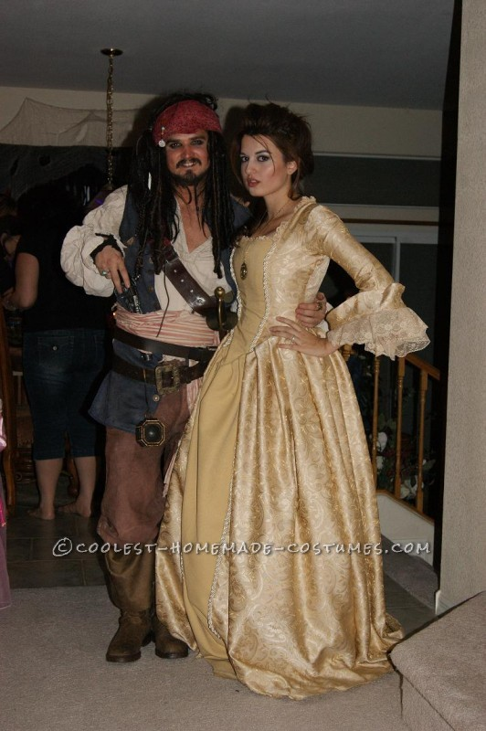 Detailed Jack Sparrow and Elizabeth Swann Costumes - 4