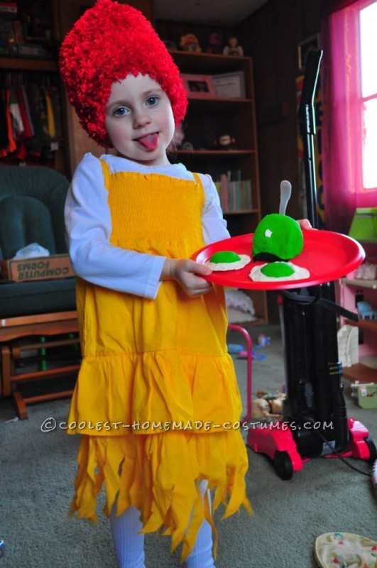 Our family loves Dr.Seuss so last year my 4 year old daughter had decided she wanted to be Sam I Am. I searched around but never seen any costumes yo
