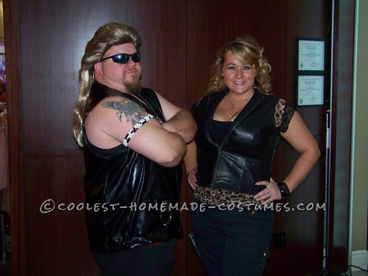 Decent, Wearable Costume for Larger People – Dog the Bounty Hunter and Beth Couple Costume