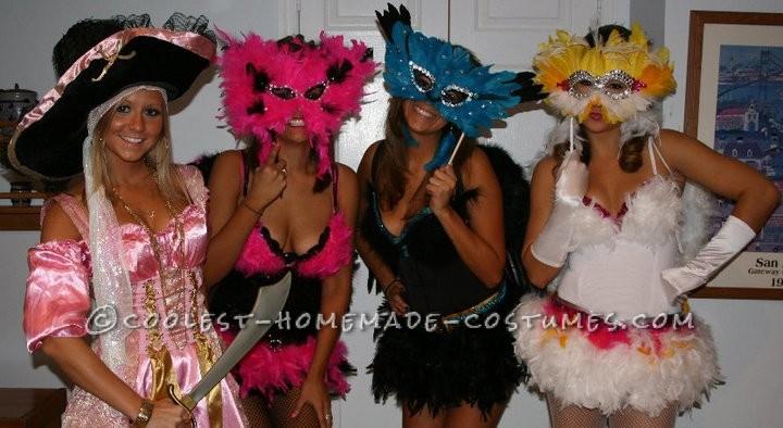 Sexy Exotic Birds Group Halloween Costumes - 1