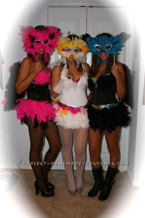 Sexy Exotic Birds Group Halloween Costumes - 2