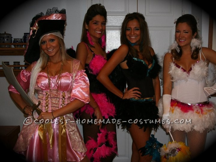 Sexy Exotic Birds Group Halloween Costumes - 4