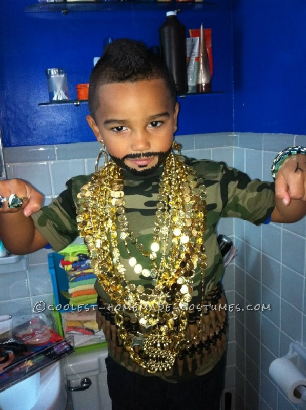 Awesome Five-Year-Old Mr T. Costume
