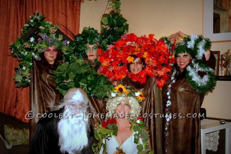 Original Four Season Trees, Mother Nature and Father Time Group Costume