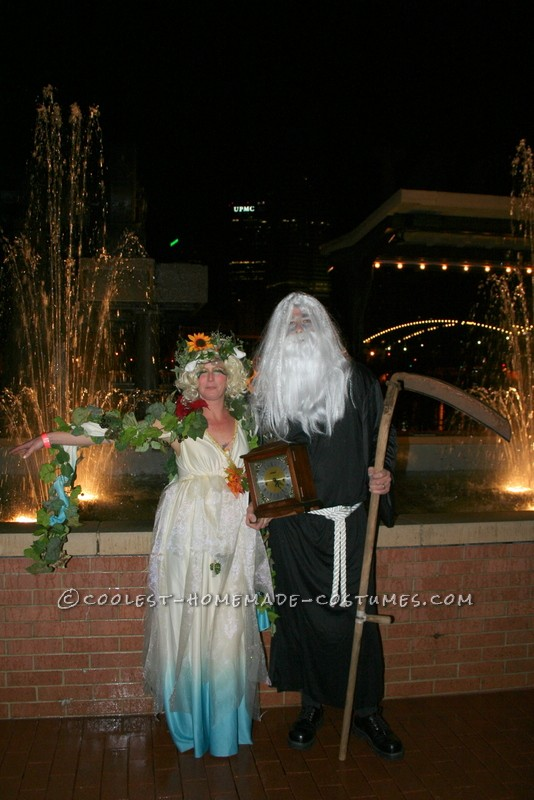 Original Four Season Trees, Mother Nature and Father Time Group Costume - 4