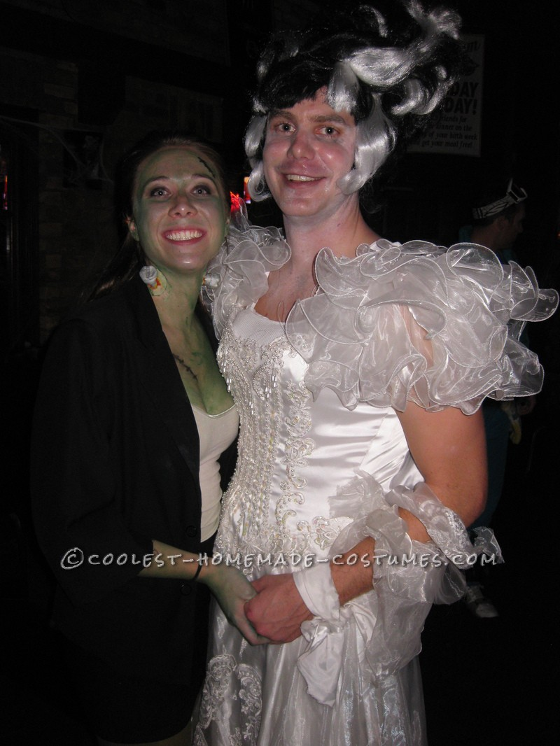 Coolest Frankenstein and Bride of Frankenstein Couple Costume