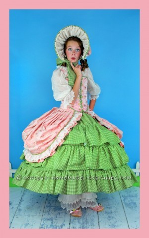 Frilly, Feminine, Little Bo Peep Costume for Tween Girl