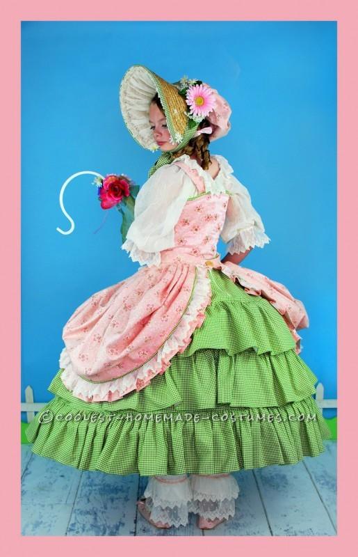 Frilly, Feminine, Little Bo Peep Costume for Tween Girl - 5