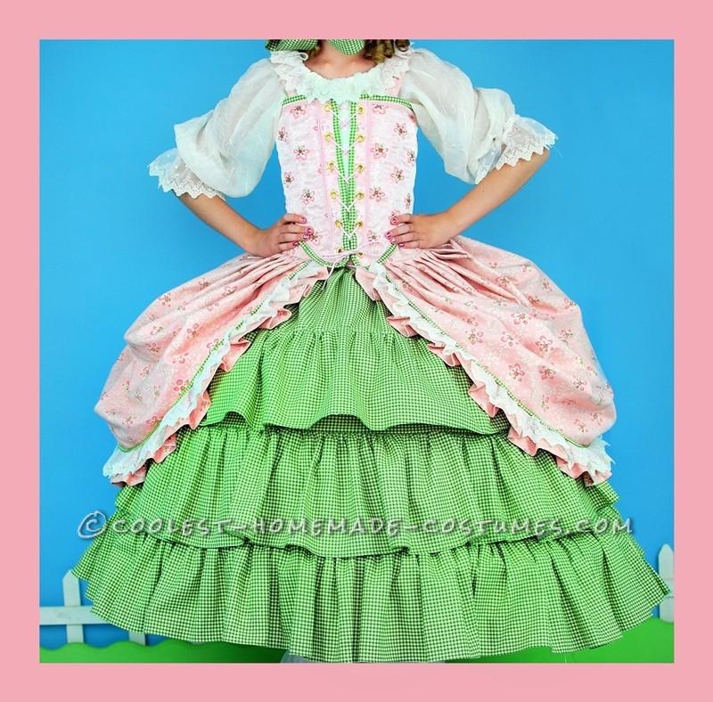 Frilly, Feminine, Little Bo Peep Costume for Tween Girl - 3
