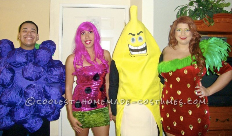 grape, watermelon,banana,strawberry