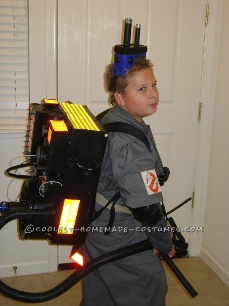 Great Ghostbuster Costume Made From Things Around the House