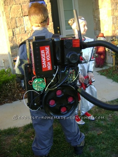 Great Ghostbuster Costume Made From Things Around the House - 1